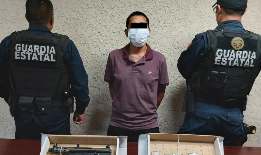 Detiene Guardia Estatal a hombre con dos armas y tiros útiles en Mexicali