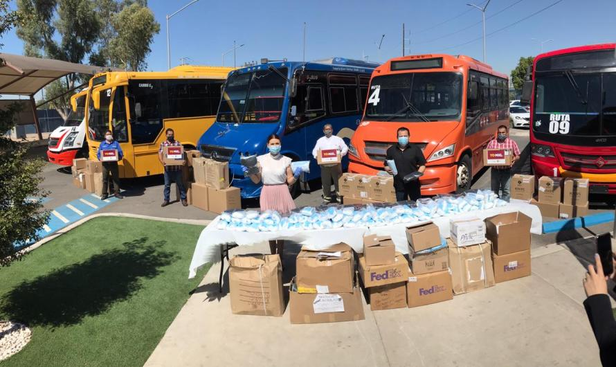 Refuerza Ayuntamiento de Mexicali medidas de seguridad contra COVID 19 en transporte público: Marina del Pilar
