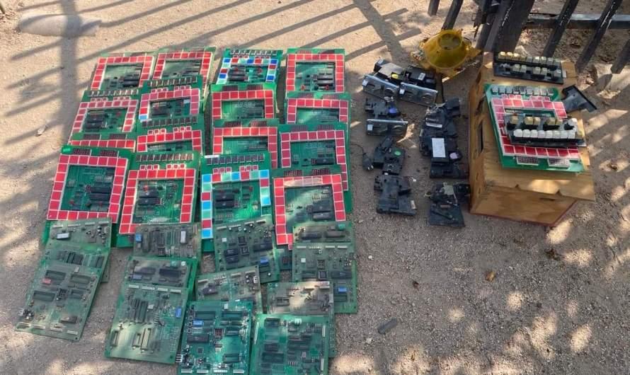 Continúan operativos contra maquinitas tragamonedas, Fiscalía Mexicali desmantela una fábrica de dichos aparatos