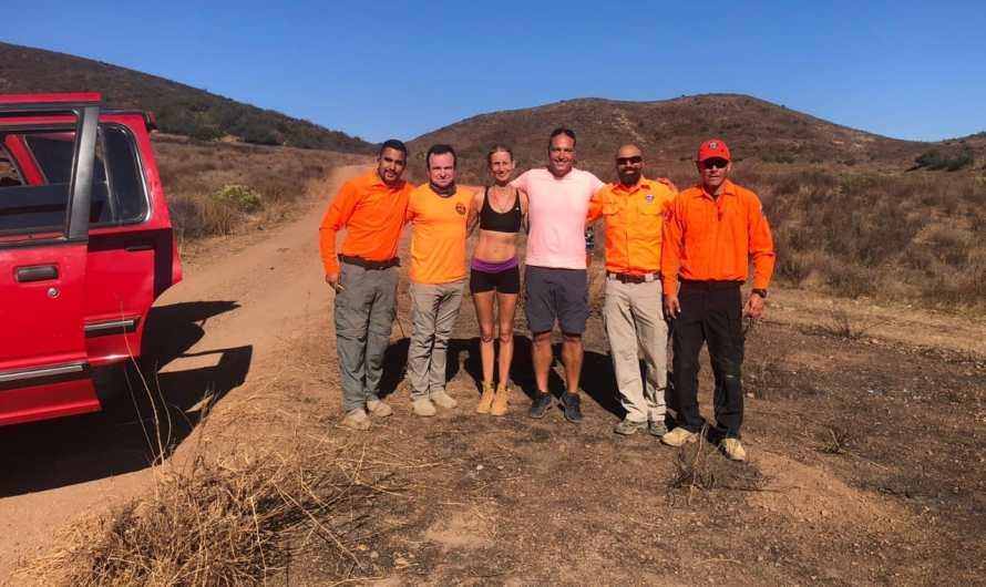 Excursionista alemana rescatada cerca de Ensenada por autoridades de Protección Civil de BC