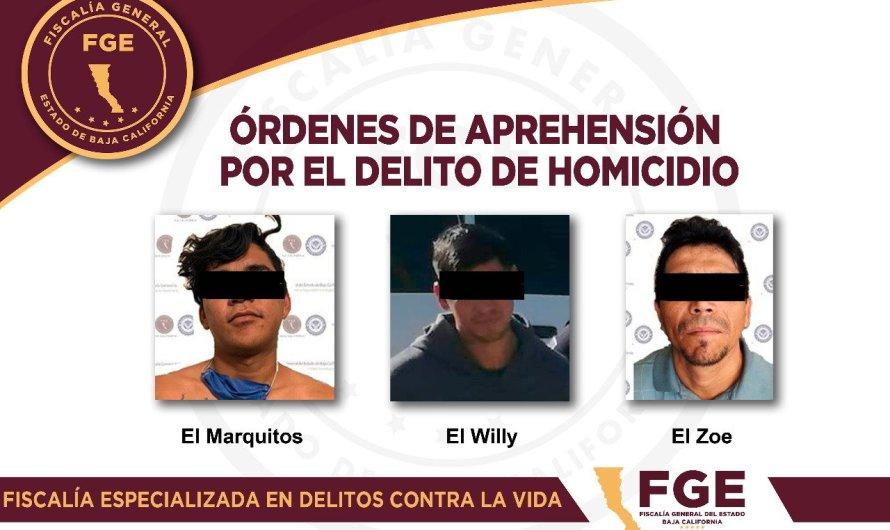 """Detienen a 3 presuntos integrantes de Los Chapitos, implicados en caso """"encajuelado"""" en Mexicali"""