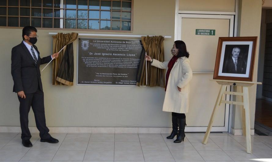 Rinde UABC homenaje póstumo al doctor José Ignacio Ascencio López en Campus Ensenada