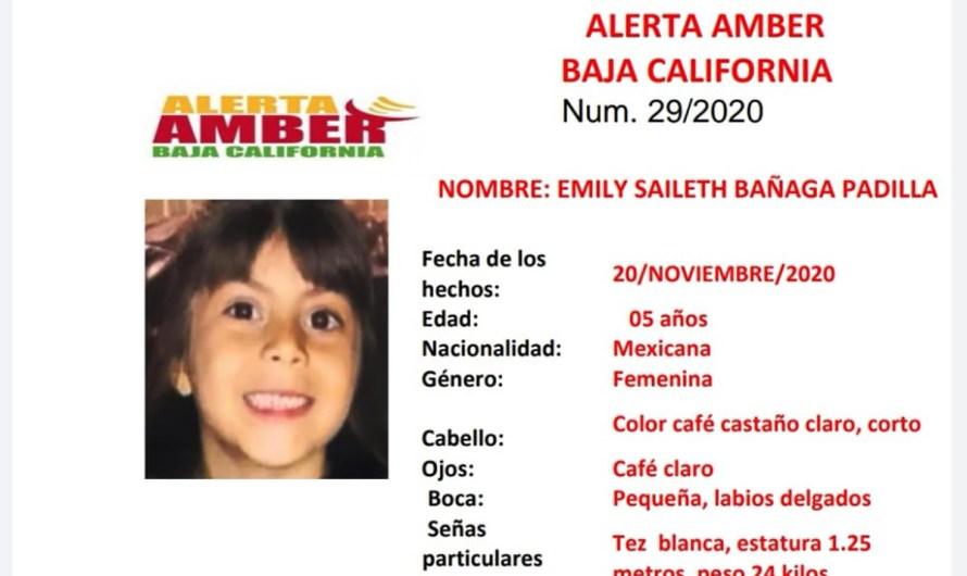 ALERTA AMBER de la Fiscalía General del Estado: Menor de edad extraviada en Ensenada