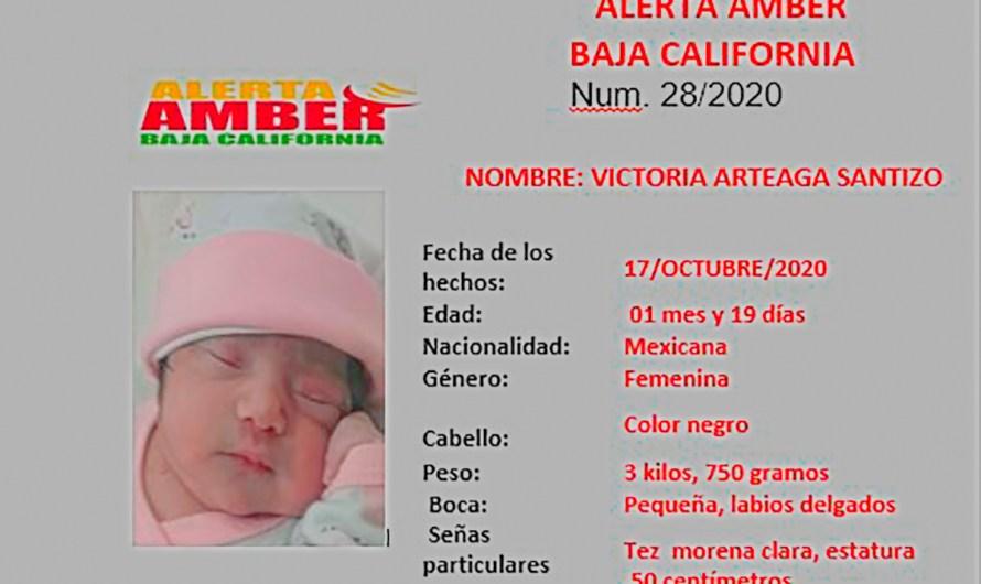 ALERTA AMBER por menor de un mes de nacida que fue sustraída de su casa