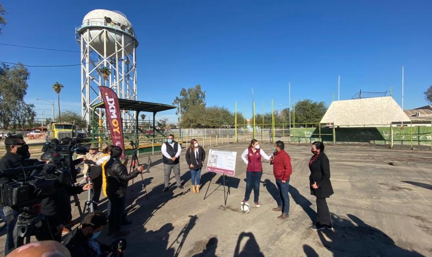 Invierte 2.1 MDP Ayuntamiento de Mexicali en campo de futbol para Unidad Deportiva Pueblo Nuevo