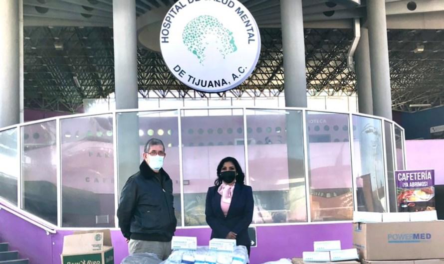 Diputada Monserrat Caballero dona 5 mil cubre bocas a Hospital de Salud Mental de Tijuana