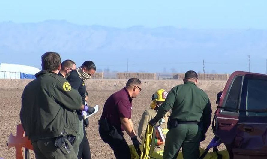 Espantoso accidente vial mata a 15 personas en carretera 115 del Valle Imperial cerca de frontera con Mexicali