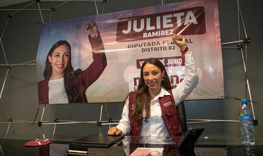 Julieta Ramírez: «Continuidad a los cambios que llegaron con la Cuarta Transformación»