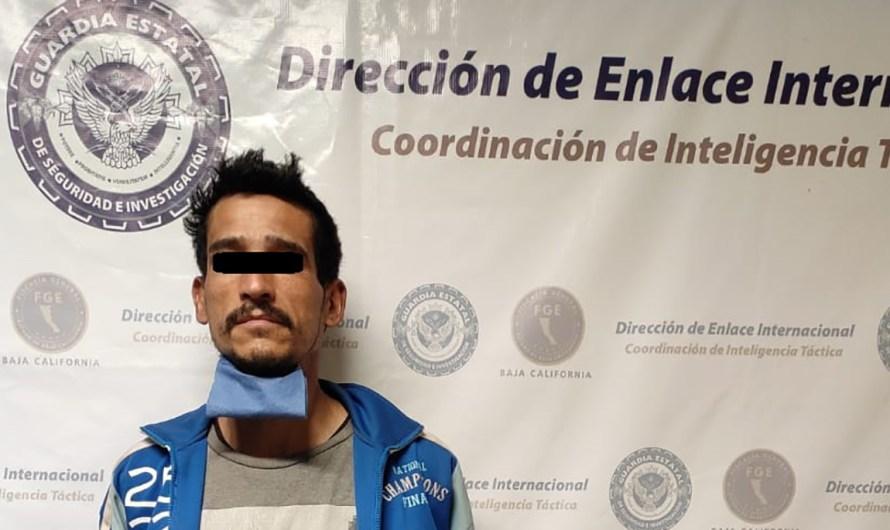 Detiene la FGE en Mexicali a prófugo de la justicia de los Estados Unidos