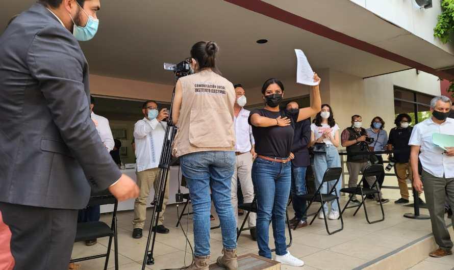 Montserrat Caballero se registra como candidata de MORENA a la Alcaldía de Tijuana