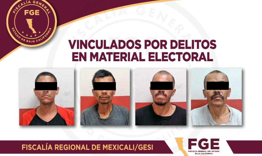 Vincula Fiscalía General del Estado a proceso a 4 presuntos implicados en delitos electorales en Mexicali el 6 de Junio