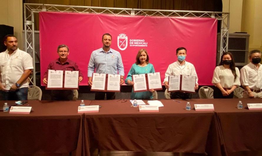 Firman convenio ambiental Ayuntamiento de Mexicali, CANIRAC y representante de Restaurantes Chinos