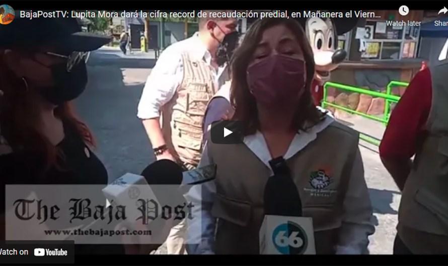 (video): Lupita Mora prometió dar la cifra récord de cobros de predial, en la Mañanera del Viernes 16 de Julio