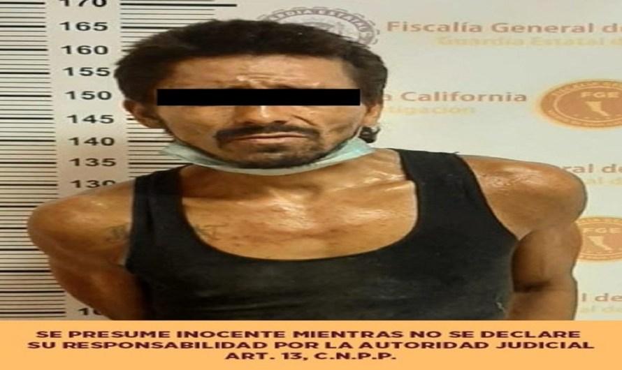 Detienen elementos de la Fiscalía Regional Mexicali al «Piti Machetes» por golpear con un tubo a un perro