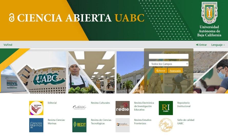 Inicia UABC proyecto CIENCIA ABIERTA espacio de información de trabajo y proyectos científicos de cimarrones