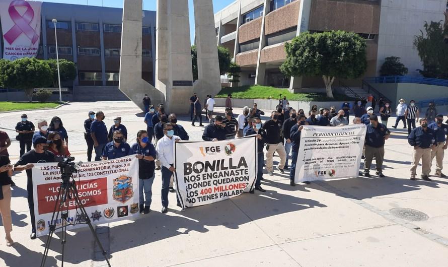 """Cumplimos pagos a policías de BC, deben ver el tema con los nuevos tesoreros y funcionarios"""": Jaime Bonilla"""