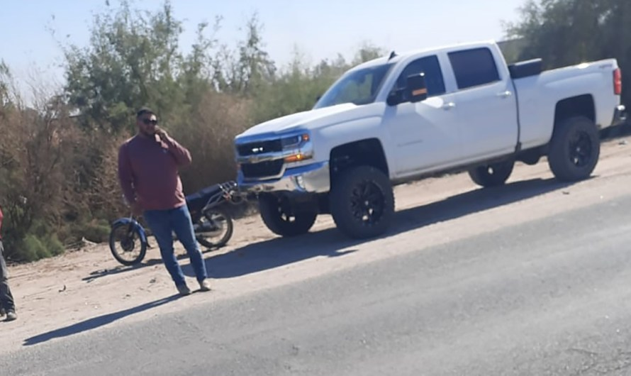 Mexicali reporter harassed Cristian Torres for taking pictures in La Puerta on Mexicali-San Felipe highway