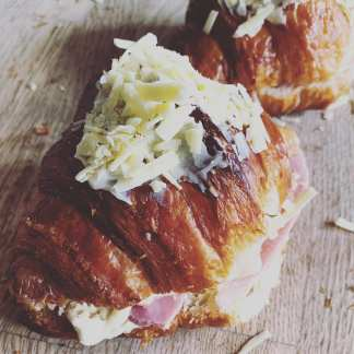 Two Ham and Cheese Croissants