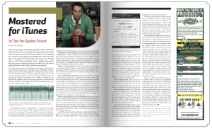 Mastered for iTunes | Mix Magazine Article