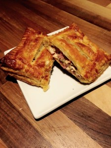 Spicy Chicken and Bacon Pastie