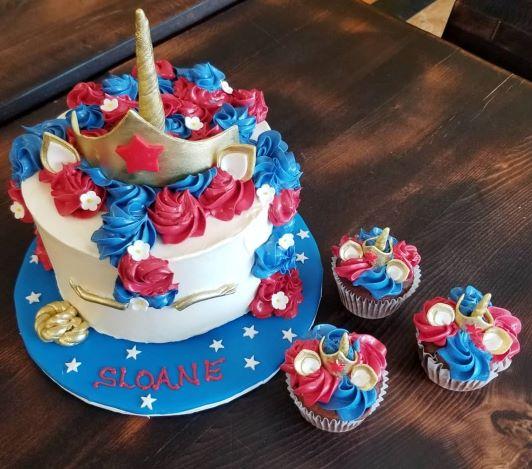 custom wonder woman birthday cake