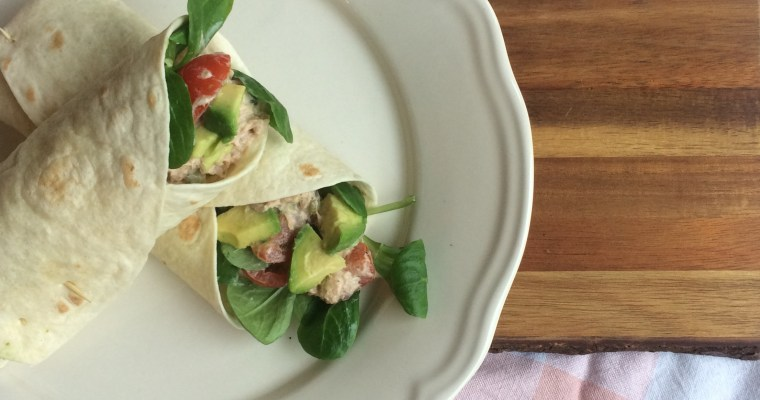 Lunchidee: Wraps met tonijnsalade