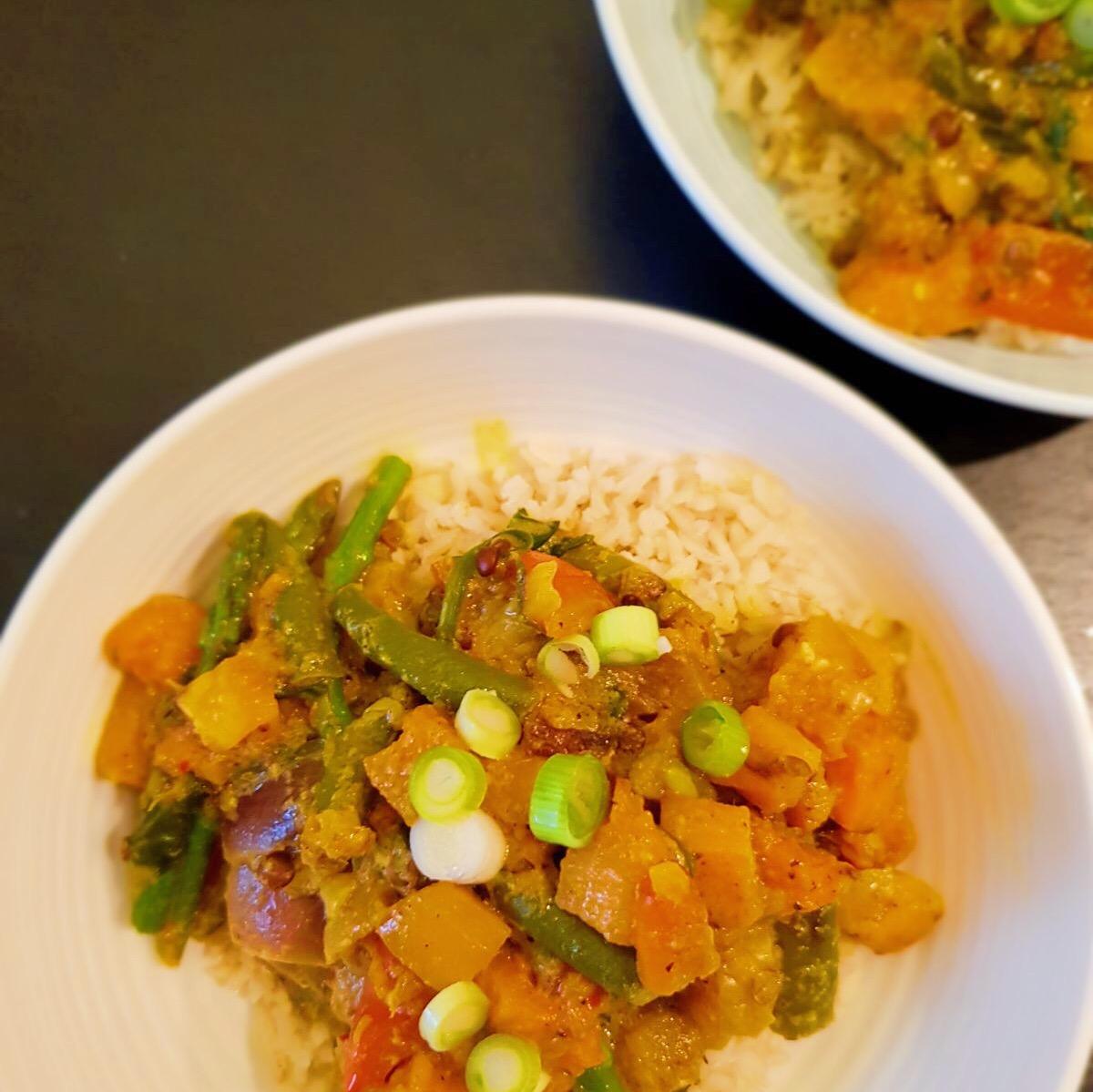 Vegetarische Curry met Pompoen en Linzen