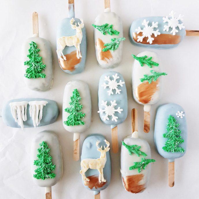 Winter Wonderland Cake Pops - The Baking Experiment