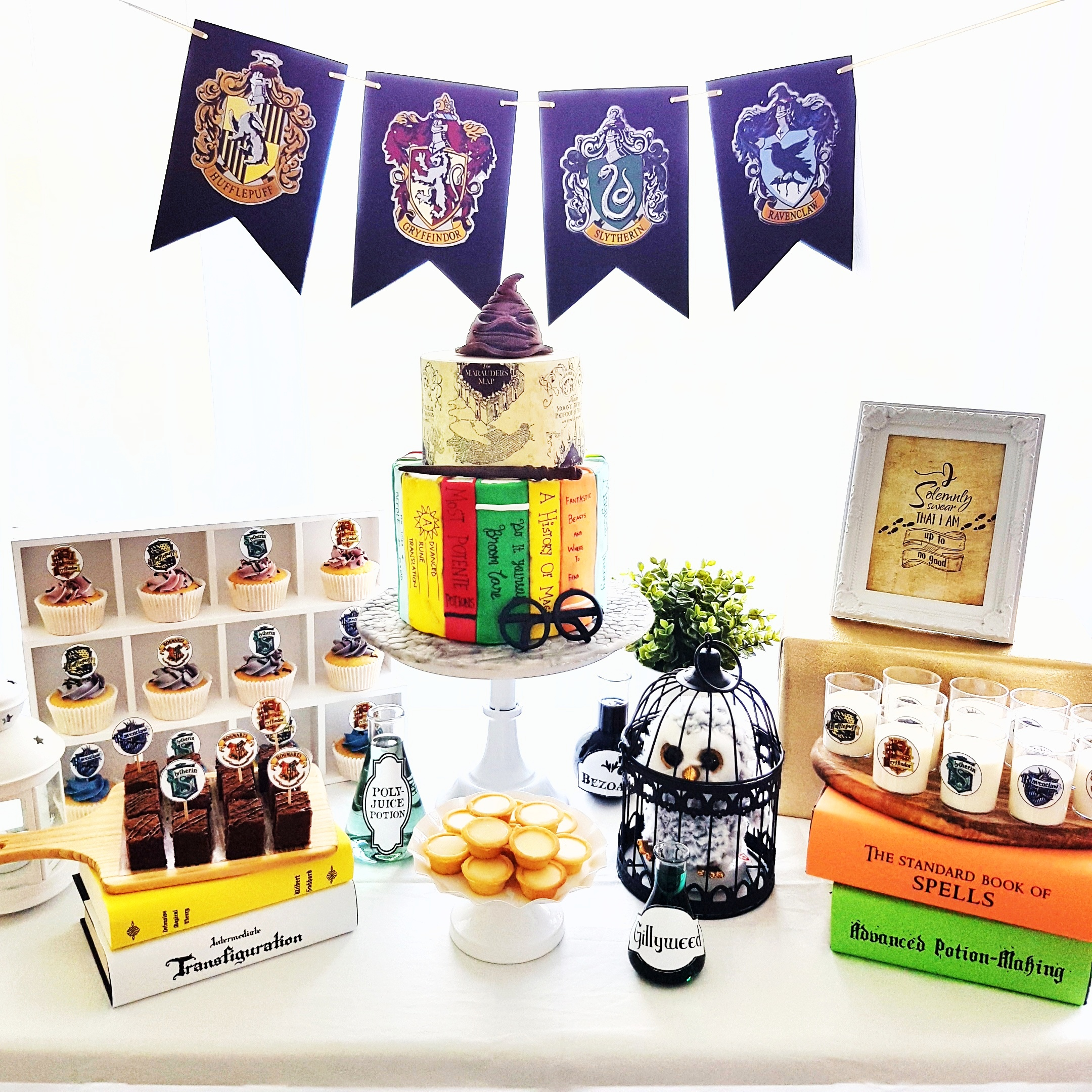 Harry Potter dessert table by The Baking Experiment