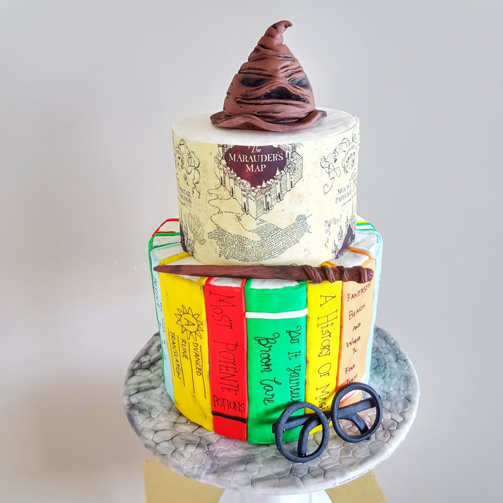 Harry Potter Two Tier Fondant Cake