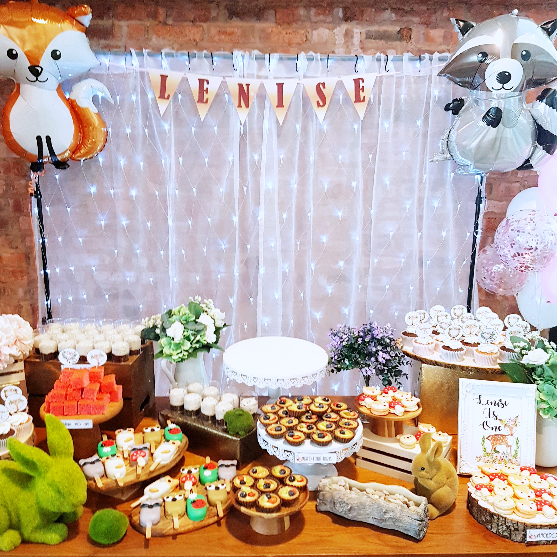 Rustic Woodlands Dessert Table by The Baking Experiment