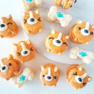 Corgi Macarons by The Baking Experiment