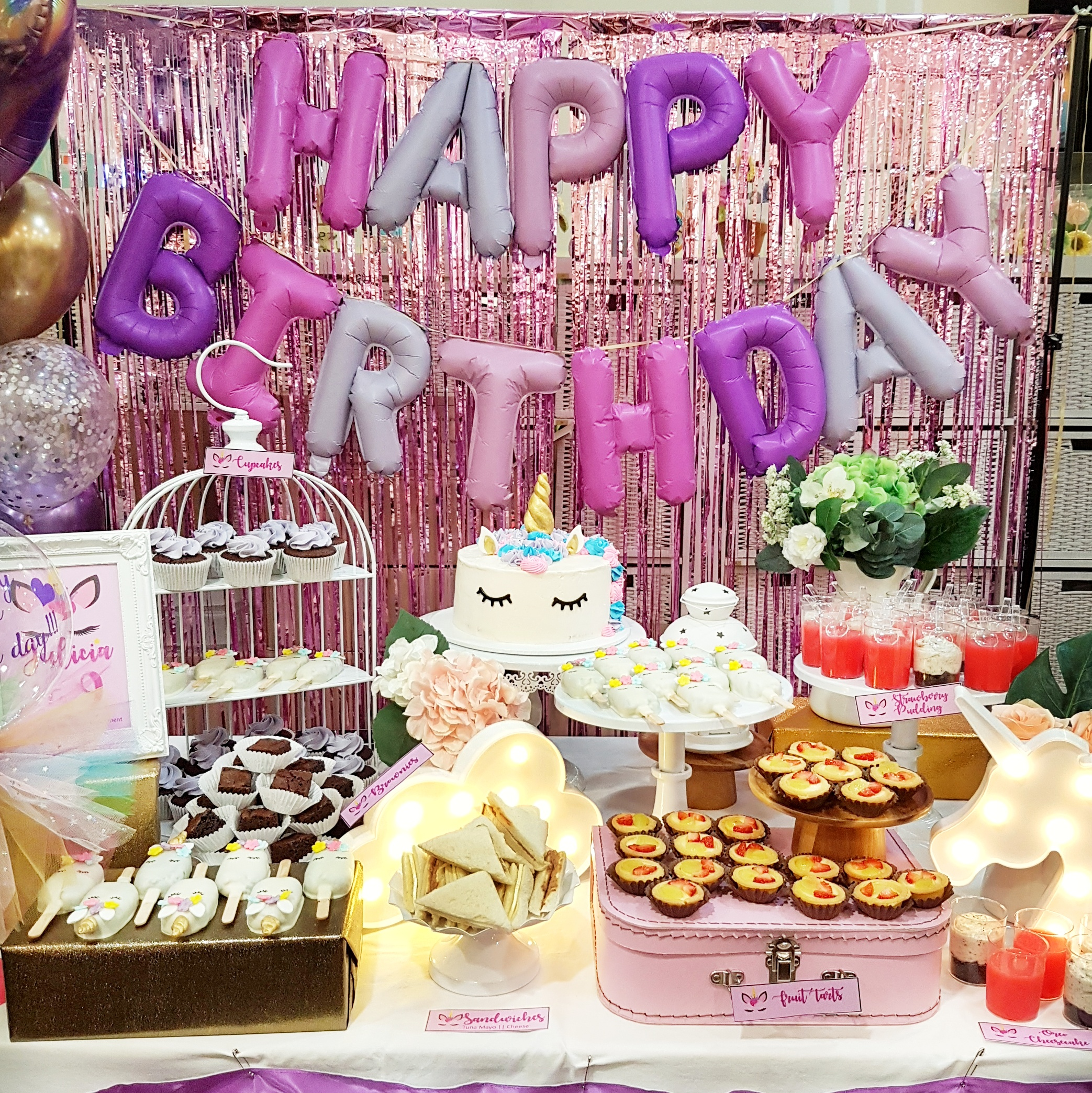 Unicorn dessert table by The Baking Experiment