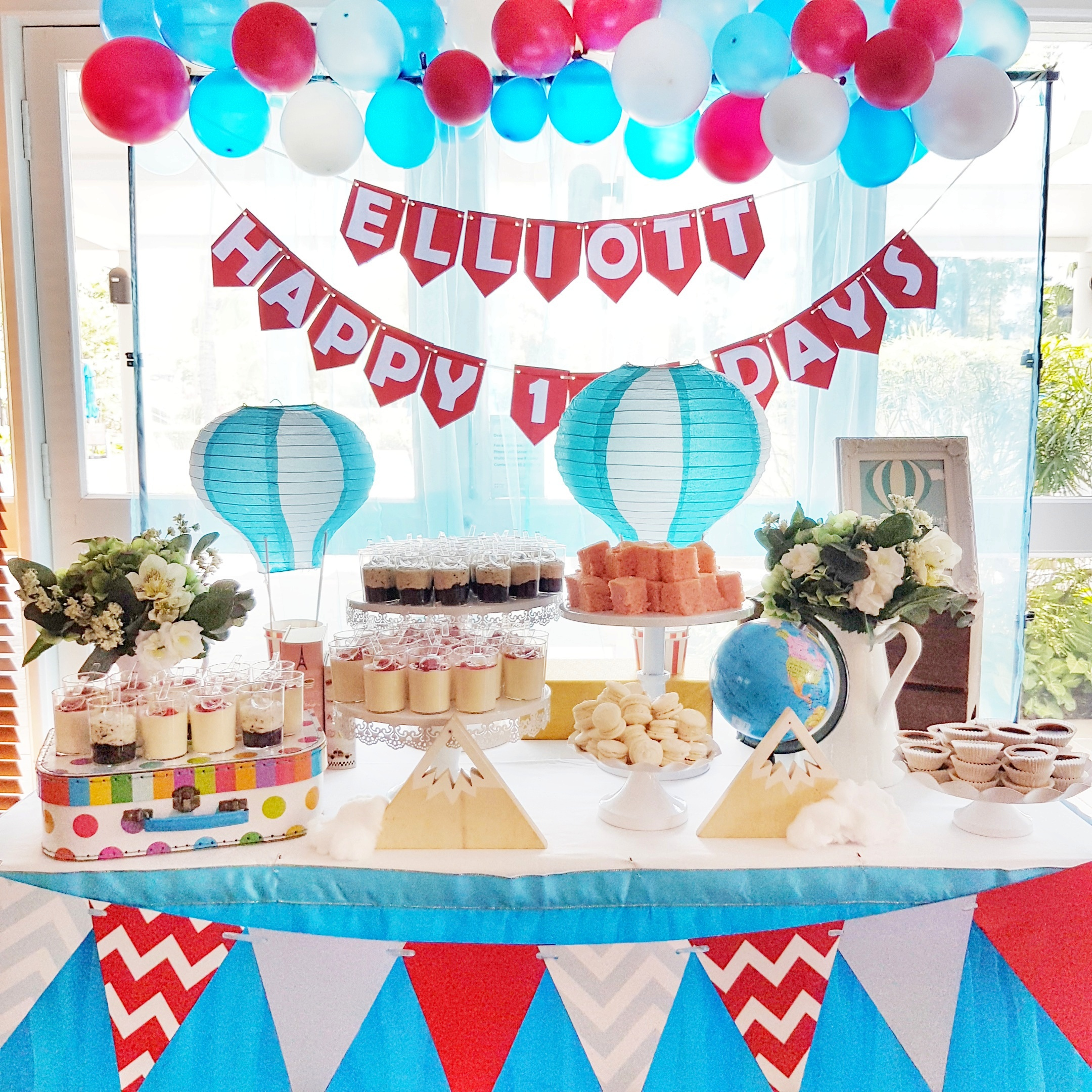 Hot Air Balloon Dessert Table by The Baking Experiment