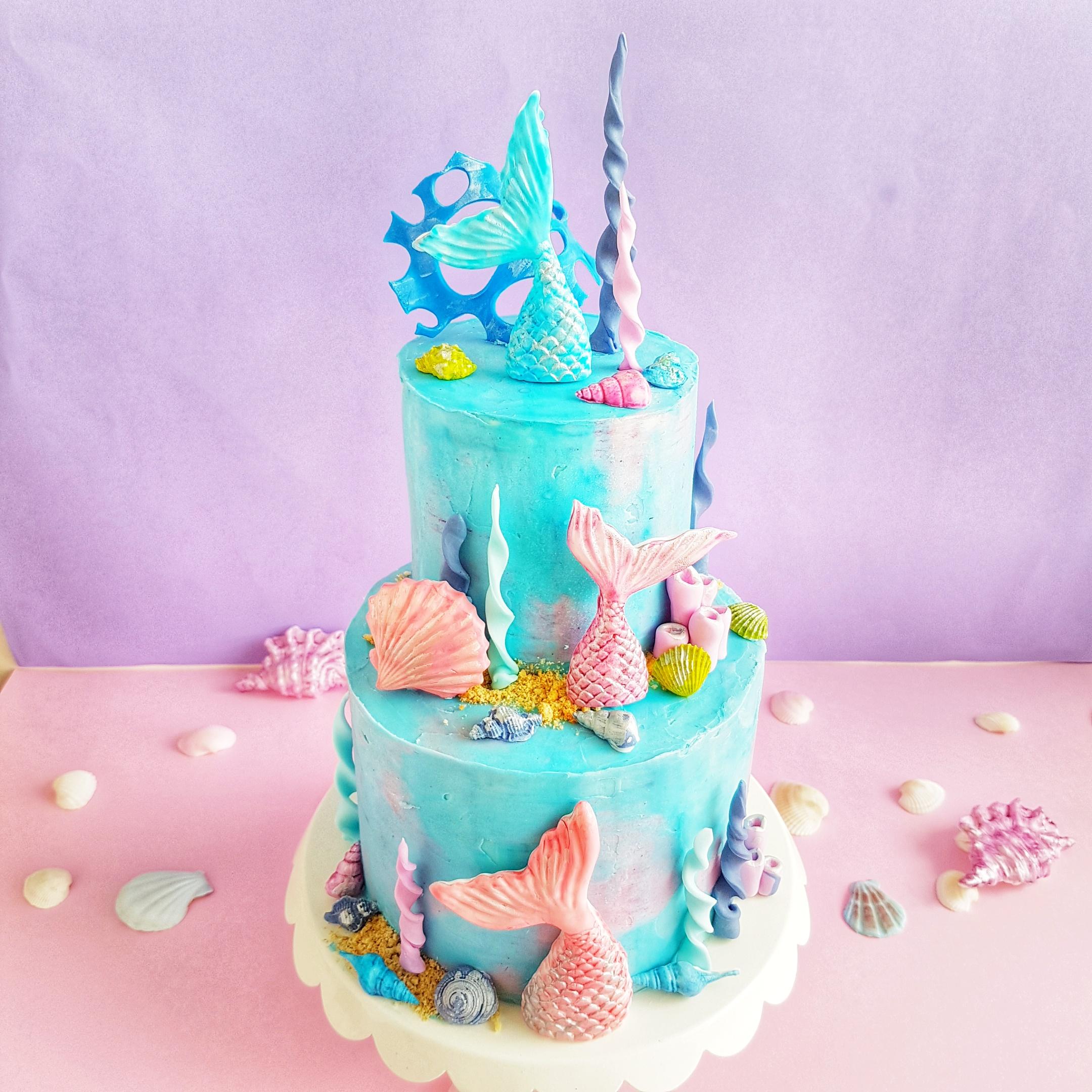 Two Tier Mermaid Cake