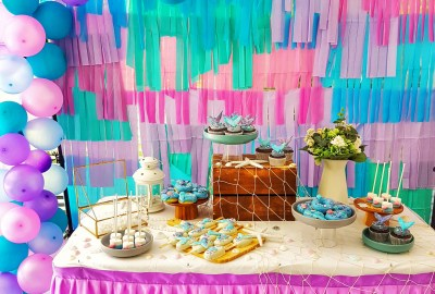 Mermaid dessert table by The Baking Experiment