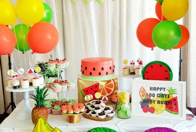 Tutti Frutti Dessert Table by The Baking Experiment