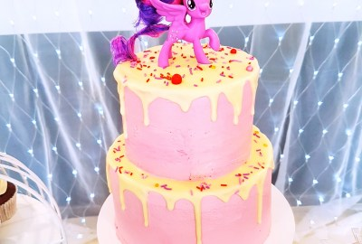 My Little Pony Two Tier Cake by The Baking Experiment