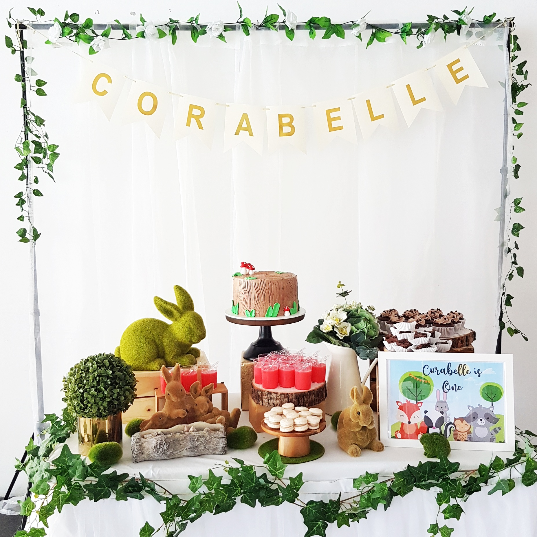 Woodlands Animals Dessert Table by The Baking Experiment