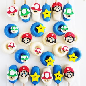 Mario Donuts and Cakepops by The Baking Experiment