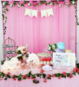 Pink Unicorn Dessert Table by The Baking Experiment