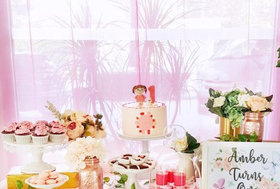 Pink Baby Girl Dessert Table by The Baking Experiment