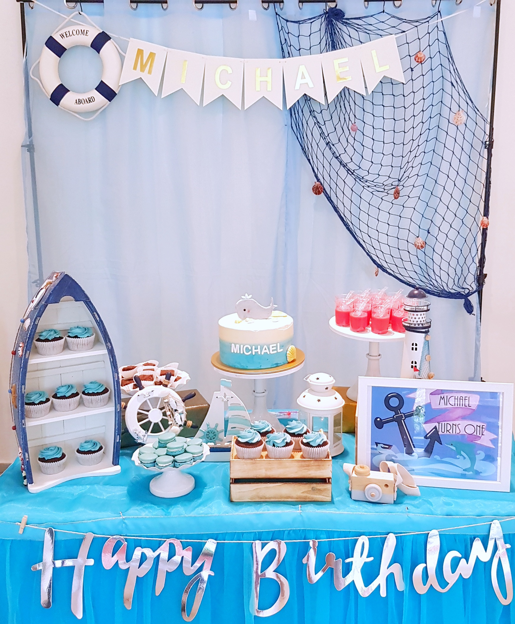Nautical Dessert Table by The Baking Experiment