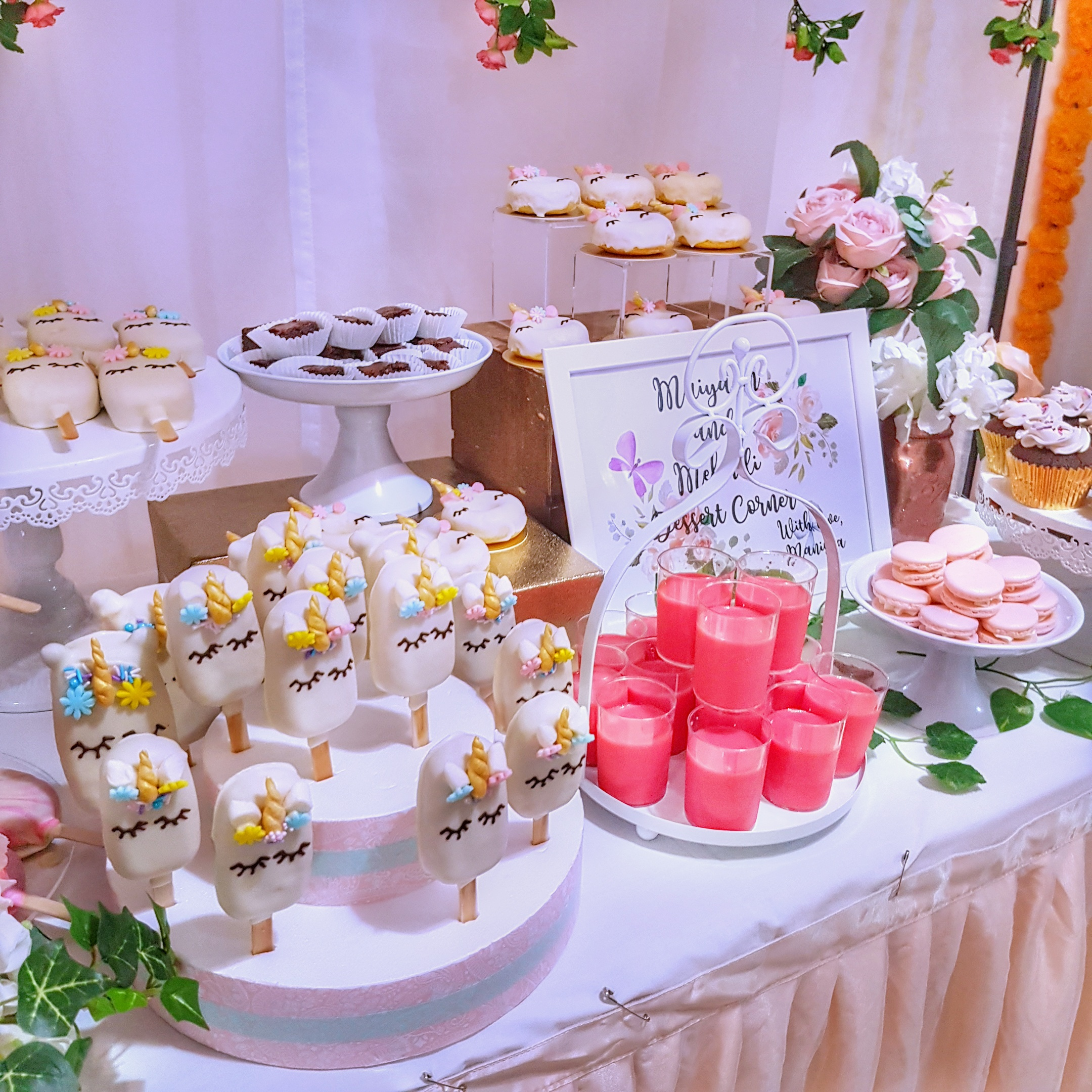 Unicorn Bridal Shower Dessert Table
