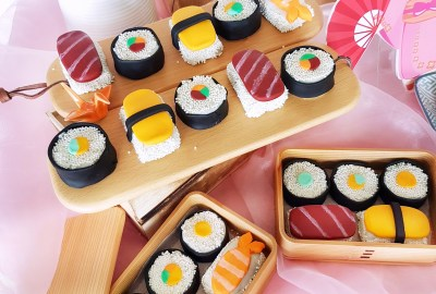 Sushi Cake Pops by The Baking Experiment