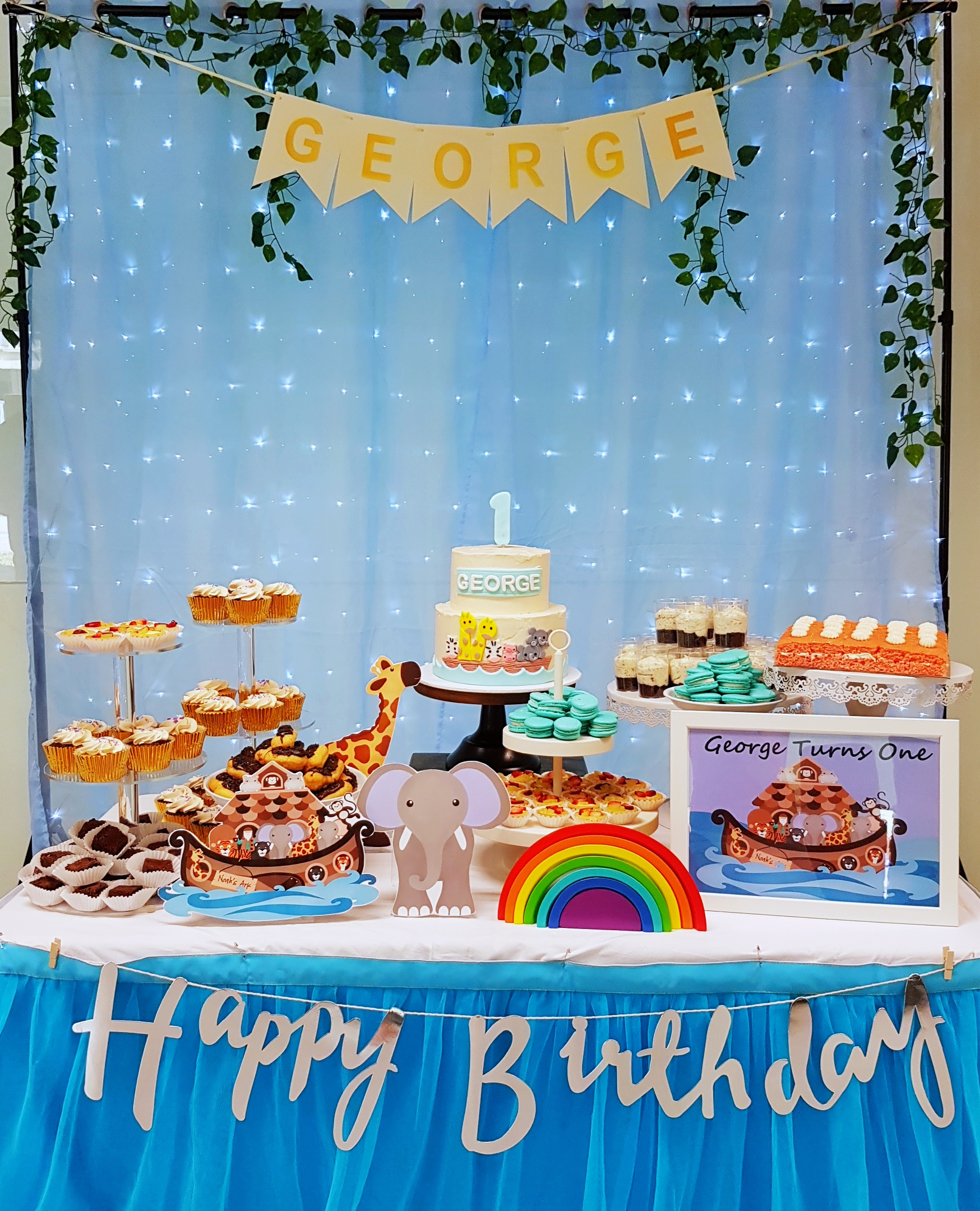 Noah's Ark Dessert Table by The Baking Experiment