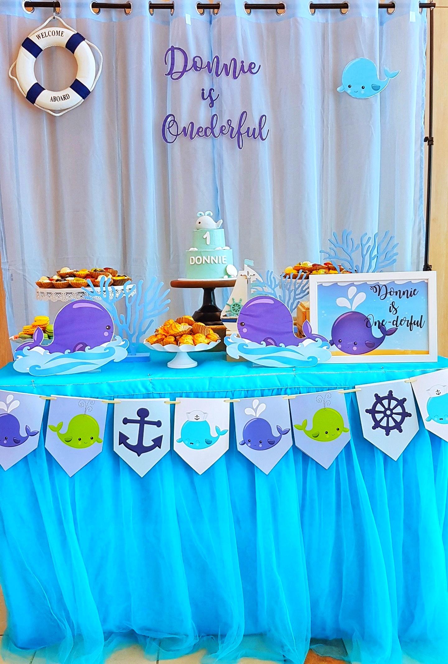 Whale Dessert Table