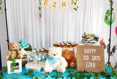 Teddy bear dessert table by The Baking Experiment