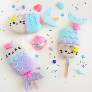 Pusheen Cake Pops by The Baking Experiment