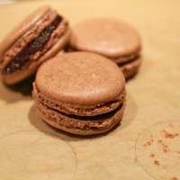 Cinnamon Chocolate Macarons